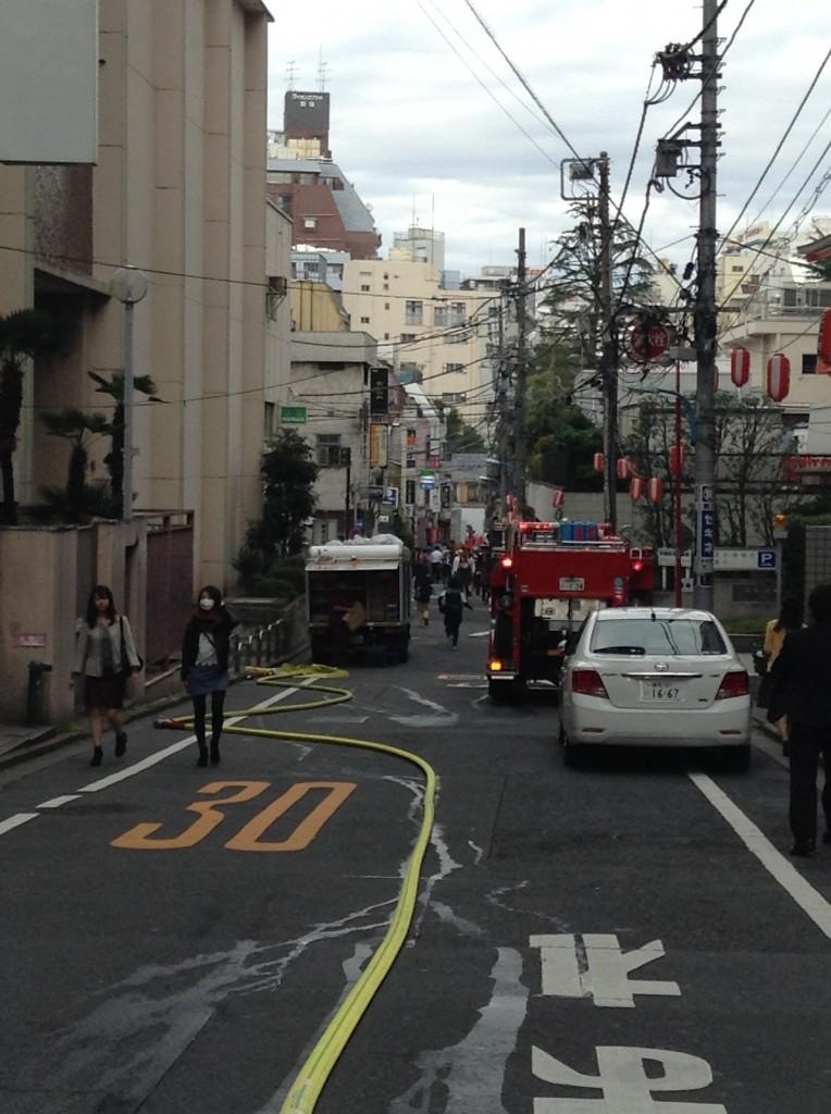 新宿で火災1